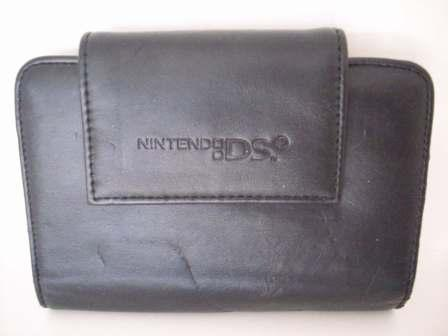 Black Leather System Carrying Case - Nintendo DS Accessory