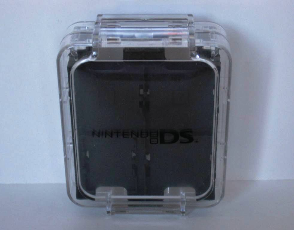 Clear Plastic 12 Game/4 SD Storage Case - Nintendo DS Accessory