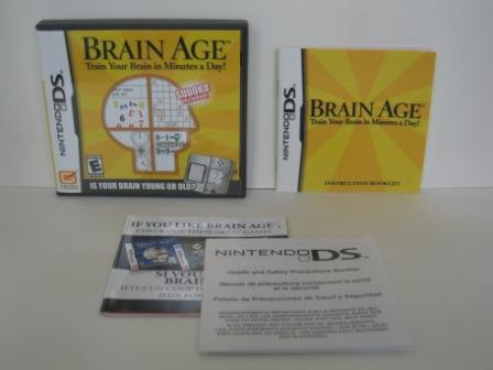 Brain Age: Train Your Brain in Minutes (CASE & MANUAL ONLY) - DS