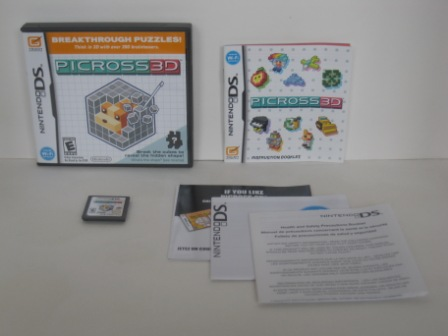 Picross 3D (CIB) - Nintendo DS Game