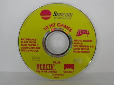 10 Hit Games (by Suncom) (includes Wolfenstein 3-D) - PC Game