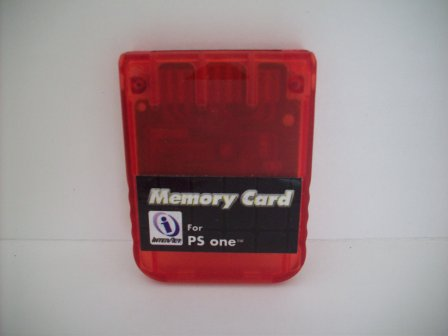 Memory Card (Red) (Third Party) - PS1 Accessory