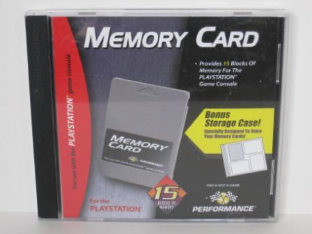 Memory Card w/ Storage Case (Performance) - PS1 Accessory