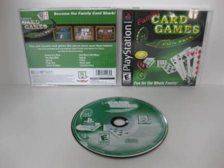 Family Card Games Fun Pak - PS1 Game