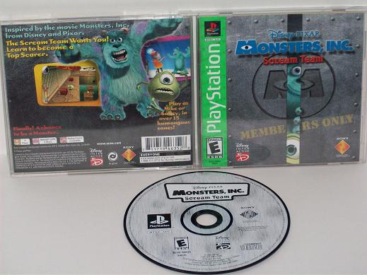 Monsters, Inc. Scream Team - PS1 Game