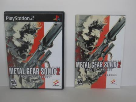 Metal Gear Solid 2: Sons of Liberty (CASE & MANUAL ONLY) - PS2