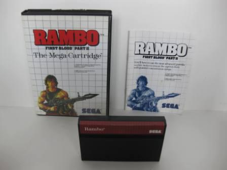 Rambo: First Blood 2 (CIB) - Sega Master System Game