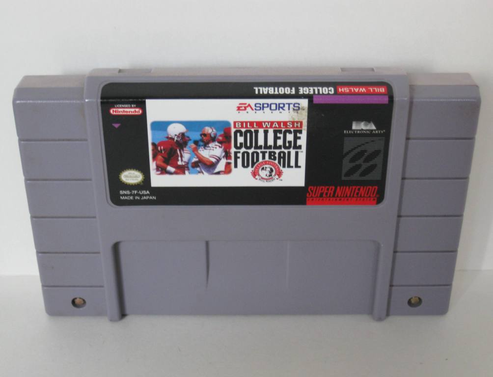 Bill Walsh College Football - SNES Game
