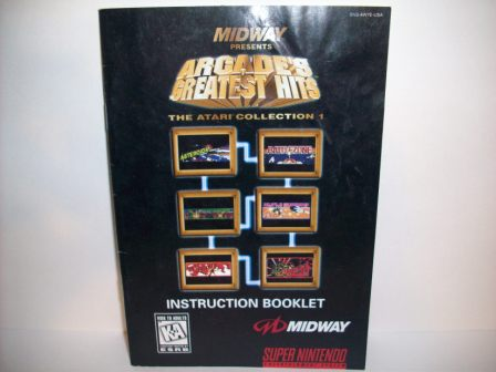 Arcades Greatest Hits: Atari Collection - SNES Manual