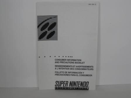 SNES Consumer Info & Precautions Booklet - SNES Manual