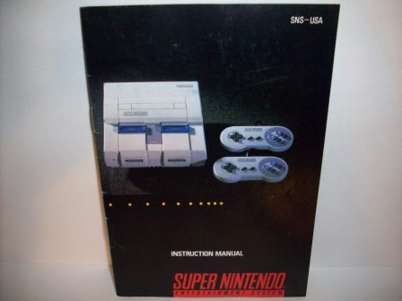 SNES System Instruction Manual - SNES Manual