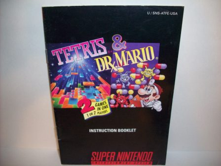 Tetris & Dr. Mario - SNES Manual