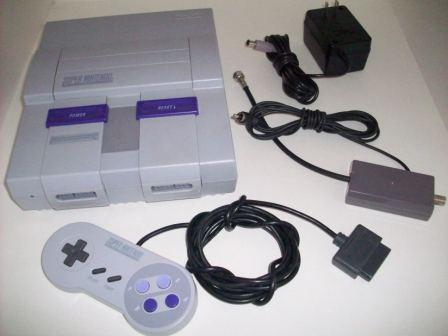 SNES System w/ 1 Controller, RF Switch, Power Supply