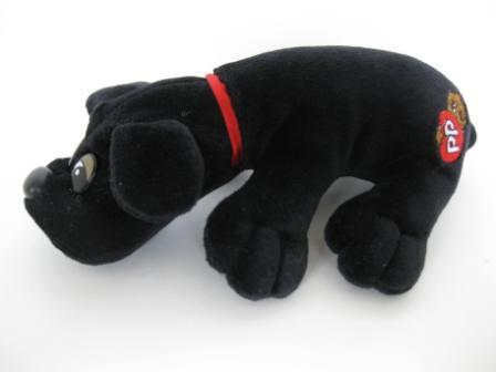 Newborn Black Hound - Pound Puppy Stuffed Animal