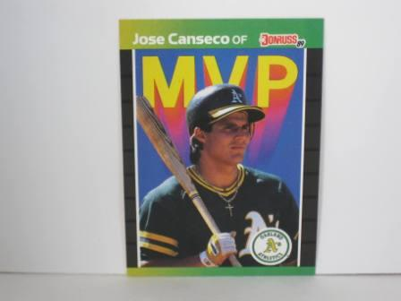 Jose Canseco MVP #BC-5 1989 Donruss Baseball Card