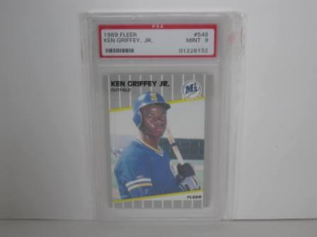 Ken Griffey Jr. RC #548 (PSA 9) 1989 Fleer Baseball Card