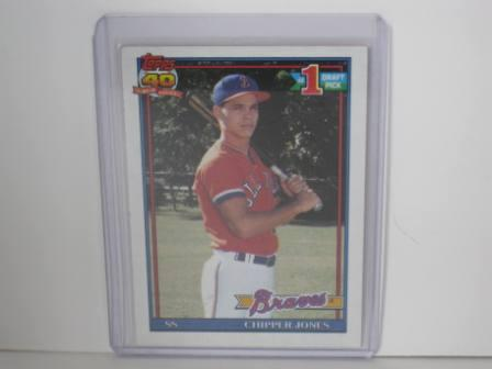 Chipper Jones RC #333 1991 Topps Baseball Card