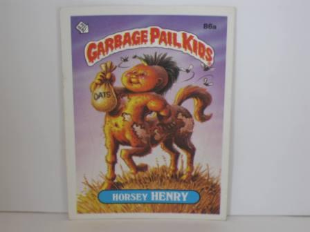 086a Horsey HENRY 1986 Topps Garbage Pail Kids Card