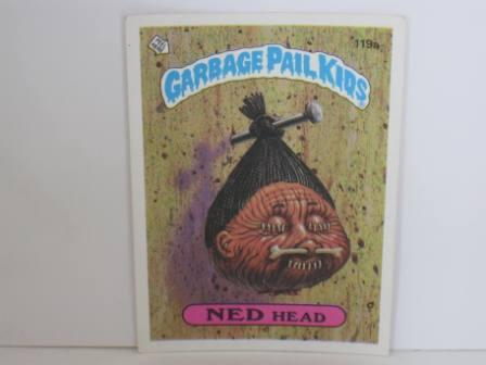119a NED Head 1986 Topps Garbage Pail Kids Card