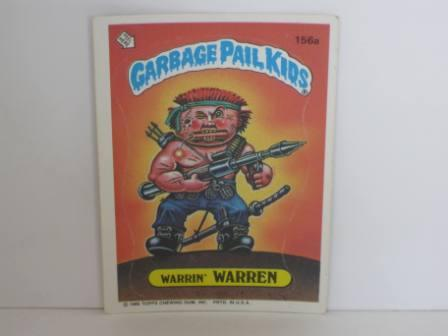 156a Warrin WARREN 1986 Topps Garbage Pail Kids Card