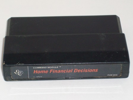 Home Financial Decisions (Black Label) - TI-99/4A Game
