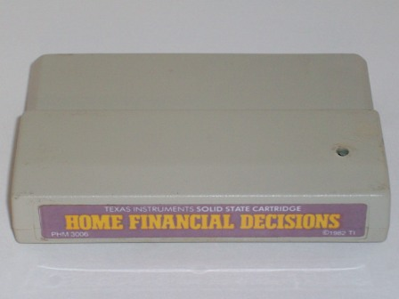 Home Financial Decisions (Color Label) - TI-99/4A Game