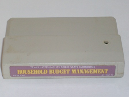 Household Budget Management (Color Label) - TI-99/4A Game
