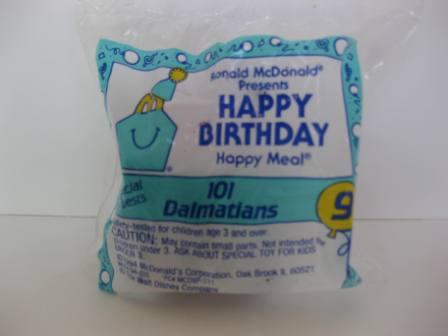 1994 McDonalds - #9 101 Dalmatians - Happy Birthday Toy (SEALED)