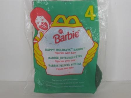 1996 McDonalds - #4 Happy Holidays Barbie - Barbie