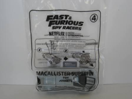 2020 McDonalds - #4 MacAllister Superfin - Fast & Furious Racers