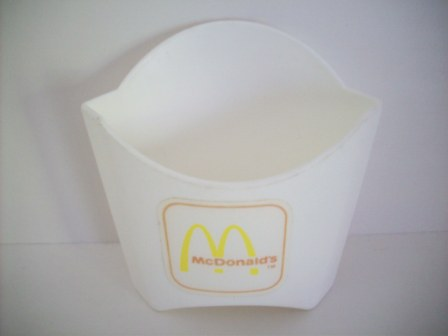 McDonalds Small Fries Container (White) - Toy