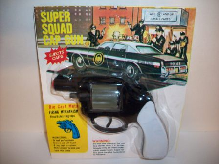 Super Squad Cap Gun for 8 Shot Ring Caps (SEALED) - Toy