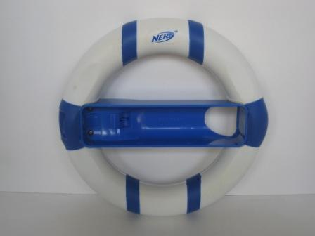 Wii NERF Steering Wheel (Blue/White) - Wii Accessory