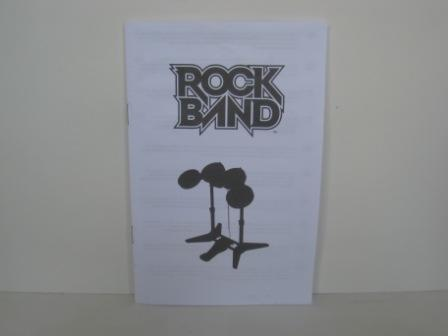 Rock Band Drum Kit Instruction Book - Wii Manual