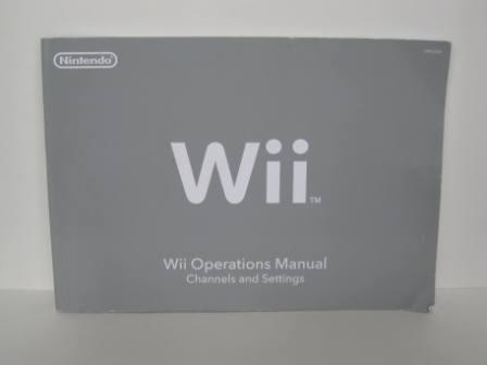 Wii System Operations Manual - Wii Manual