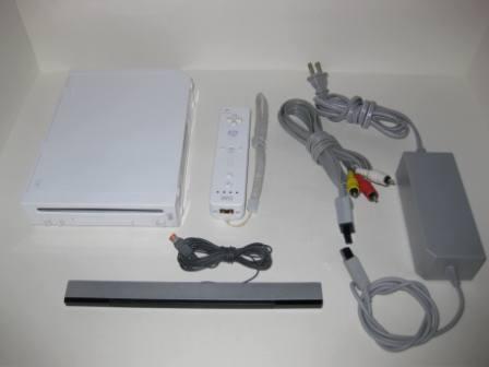 Wii System White W 1 Ctrl Ac Adapter Av Cable Sensor Bar