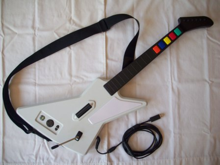 Guitar Hero Wired Guitar with Strap - Xbox 360 Accessory