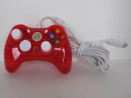 Rock Candy Xbox 360 Wired Controller (Red) - Xbox 360 Accessory